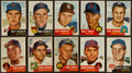 Baseball Cards:Lots, 1953 Topps Baseball Collection (68) With Stars and High Numbers....