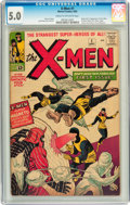 Silver Age (1956-1969):Superhero, X-Men #1 (Marvel, 1963) CGC VG/FN 5.0 Cream to off-white pages....