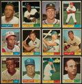 Baseball Cards:Lots, 1961 Topps Baseball Collection (28) With Many HoFers. ...