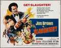 "Movie Posters:Blaxploitation, Slaughter (American International, 1972). Half Sheet (22"" X 28"").Blaxploitation.. ..."