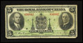 Canadian Currency: , Montreal, PQ- Royal Bank of Canada $5 1935 Charlton 630-18-02a. ...