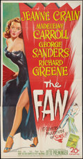 "Movie Posters:Drama, The Fan (20th Century Fox, 1949). Three Sheet (41"" X 81""). Drama.. ..."