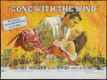 "Movie Posters:Academy Award Winners, Gone with the Wind (Cinema International, R-1968). British Quad (30"" X 40""). Academy Award Winners.. ..."
