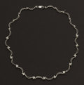 Estate Jewelry:Necklaces, White Gold Diamond Necklace. ...