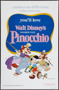 "Movie Posters:Animation, Pinocchio (Buena Vista, R-1978). One Sheet (27"" X 41"") Flat Folded. Animation.. ..."