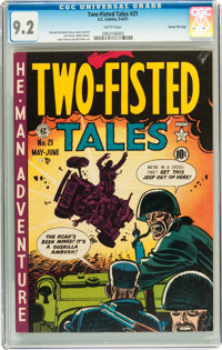 Two-Fisted Tales #21 Gaines File pedigree 6/10 (EC, 1951) CGC NM- 9.2 White pages