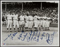 Baseball Collectibles:Photos, 1969 Chicago Cubs Multi Signed Oversized Photograph....
