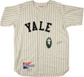 Baseball Collectibles:Uniforms, George Herbert Walker Bush Signed Yale Jersey. ...