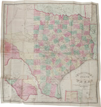 Charles W. Pressler. Traveller's Map of the State of Texas. Compiled, from the records of th