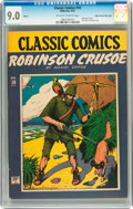 Golden Age (1938-1955):Adventure, Classic Comics #10 Robinson Crusoe HRN 14 - Mile High pedigree (Gilberton, 1943) CGC VF/NM 9.0 Off-white to white pages....