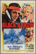 "Movie Posters:Serial, Black Arrow (Columbia, R-1955). One Sheets (2) (27"" X 41""). Chapters 14 & 15 -- ""An Indian's Revenge"" & ""The Black Arrow Tri... (Total: 2 Items)"