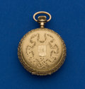 Timepieces:Pocket (post 1900), Waltham 35 mm Gold Hunter's Case Pocket Watch. ...