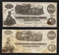 Confederate Notes:1862 Issues, CT39/294 Counterfeit $100 1862. T40 $100 1862.. ... (Total: 2notes)