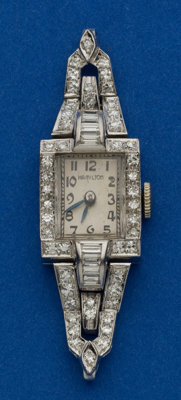 Ladies Hamilton Platinum & Diamond Wristwatch