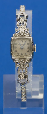 Swiss Ladies Gold & Diamond Wristwatch