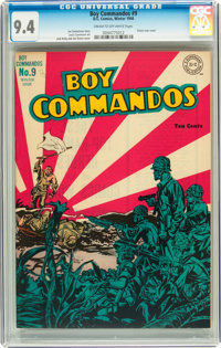 Boy Commandos #9 (DC, 1944) CGC NM 9.4 Cream to off-white pages