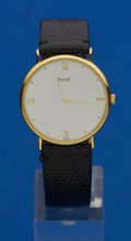 Timepieces:Wristwatch, Piaget Gent's 18k Wristwatch. ...