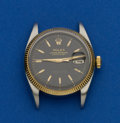 Timepieces:Wristwatch, Rolex Ref. 6605 Steel & Gold Oyster Perpetual Datejust, circa 1955. ...