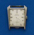 Timepieces:Wristwatch, LeCoultre 14k Diamond Dial Asymmetrical Wristwatch. ...
