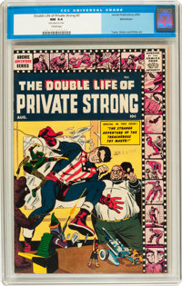 The Double Life of Private Strong #2 Bethlehem pedigree (Archie, 1959) CGC NM 9.4 Cream pages