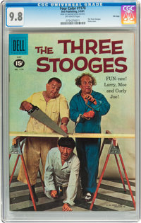 Four Color #1170 Three Stooges - File Copy (Dell, 1961) CGC NM/MT 9.8 Off-white pages