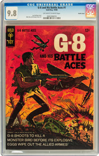 G-8 and His Battle Aces #1 Pacific Coast pedigree (Gold Key, 1966) CGC NM/MT 9.8 Off-white to white pages