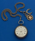 Timepieces:Pocket (pre 1900) , Lancashire Watch Sterling Key Wind With Sterling Chain. ...