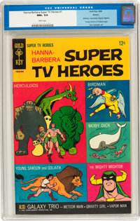 Hanna-Barbera Super TV Heroes #1 Boston pedigree (Gold Key, 1968) CGC NM+ 9.6 White pages
