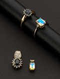 Estate Jewelry:Suites, Two Ring & Pendant Sets. ... (Total: 2 Items)