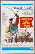 "Movie Posters:Adventure, A Challenge for Robin Hood (20th Century Fox, 1967). One Sheet (27""X 41"") Flat Folded. Adventure.. ..."