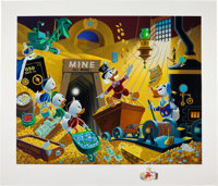 Carl Barks Rich Find at Inventory Time Remarked Serigraph Print Publisher's Proof 1/15 (Disney Art Editions, 1994)... (T...