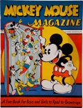 Platinum Age (1897-1937):Miscellaneous, Mickey Mouse Magazine #1 (K. K. Publications/ Western Publishing Co., 1935) Condition: VF+....
