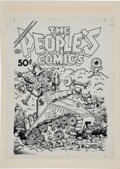 Original Comic Art:Covers, Robert Crumb The People's Comics Cover Original Art (GoldenGate Publishing, 1972)....