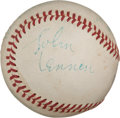 Autographs:Baseballs, 1965 The Beatles Signed Baseball from Shea Stadium Concert....