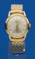 Timepieces:Wristwatch, Ulysse Nardin 14k Gold Automatic. ...