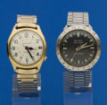 Timepieces:Wristwatch, Two Bulova Accutron's, Astronaut Runner & A Railroad Approved For Repair. ...