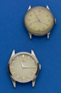 Timepieces:Wristwatch, Two Vintage Steel Omega Wristwatches. ... (Total: 2 Items)
