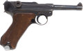Handguns:Semiautomatic Pistol, German Model P08 Semi-Automatic S/42 Code Luger Pistol and Holster....