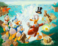 Original Comic Art:Miscellaneous, Carl Barks Return to Plain Awful Preliminary Painting(#P-10) Original Art (c. 1989)....