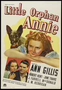 "Little Orphan Annie (Paramount, 1938). One Sheet (27"" X 41""). Childrens' Drama. Starring Ann Gillis, Robert Ke..."