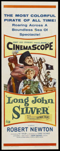 "Movie Posters:Adventure, Long John Silver (20th Century Fox, 1953). Insert (14"" X 36"").Adventure. Starring Robert Newton, Kit Taylor, Connie Gilchri...(Total: 2 Item)"