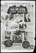 "Movie Posters:Short Subject, Love Moods (Sonney Amusement Enterprises, 1952). Poster (40"" X60""). Short. Starring Lili St. Cyr. Produced by Willis Kent a..."