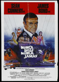 "Movie Posters:James Bond, Never Say Never Again (Warner Brothers, 1983). Spanish Language OneSheet (27"" X 41"") and Exhibitor Promo (14"" X 17""). James... (Total:2 Items)"