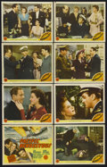 "Movie Posters:War, Pacific Rendezvous (MGM, 1942). Lobby Card Set of 8 (11"" X 14"").War. Starring Lee Bowman, Jean Rogers, Mona Maris, Carl Esm...(Total: 8 Items)"