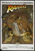 "Movie Posters:Adventure, Raiders of the Lost Ark (Paramount, R-1982). Poster (40"" X 60"").Adventure. Starring Harrison Ford, Karen Allen, Paul Freema..."