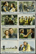 """Movie Posters:War, Reach for the Sky (Rank, 1956). British Lobby Card Set of 8 (11"""" X14""""). War. Starring Kenneth More, Muriel Pavlow, Lyndon B...(Total: 8 Items)"""
