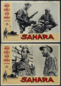"Movie Posters:War, Sahara (Columbia, R-1960). Italian Photobustas (2) (19"" X 27"").War. Starring Humphrey Bogart, Bruce Bennett, J. Carrol Nais...(Total: 2 Item)"
