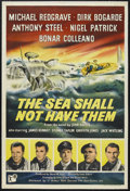 "Movie Posters:War, The Sea Shall Not Have Them (J. Arthur Rank, 1954). British OneSheet (27"" X 40""). War. Starring Michael Redgrave, Dirk Boga..."