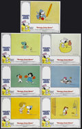 "Movie Posters:Animated, Snoopy, Come Home (National General, 1972). Lobby Cards (7) (11"" X14""). Animated Comedy. Starring the voices of Bill Melend...(Total: 7 Items)"