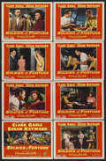 "Movie Posters:Adventure, Soldier of Fortune (20th Century Fox, 1955). Lobby Card Set of 8(11"" X 14""). Adventure. Starring Clark Gable, Susan Hayward...(Total: 8 Items)"